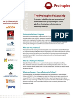 ProInspire Nonprofit Fellowship for Business Professionals