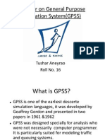 General Purpose simulation System (GPSS)