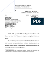 Appellant's Reply to Objection to Motion to Recuse 11th Circuit Court of Appeals