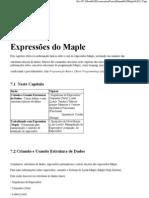 cap 07 - Expressões do Maple