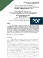 Estudo de Caso - Implantação do PBQP-H