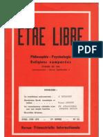 ETRE LIBRE N° 251 (Avril-Juin 1972)