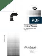 HI Pump Standard 2.1-2.2 Vertical Pumps for Nomentclature & Definitions