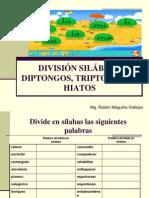 ACENTUACIÓN,  DIVISIÓN SILÁBICA, DIPTONGOS, TRIPTONGOS