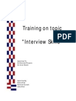 Training on Interview Skills