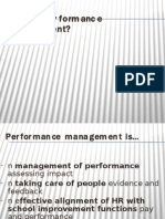 performance mgmt