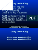 glory to the king