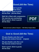god is good (all the time) (chapman)
