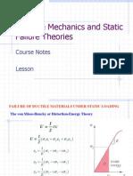 Module 24 - Static Failure Theories