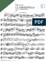 E. Cavallini Adagio e Tarantella Clarinet and piano