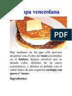 Cachapa venezolana
