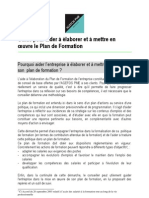 Guide Plan de Formation