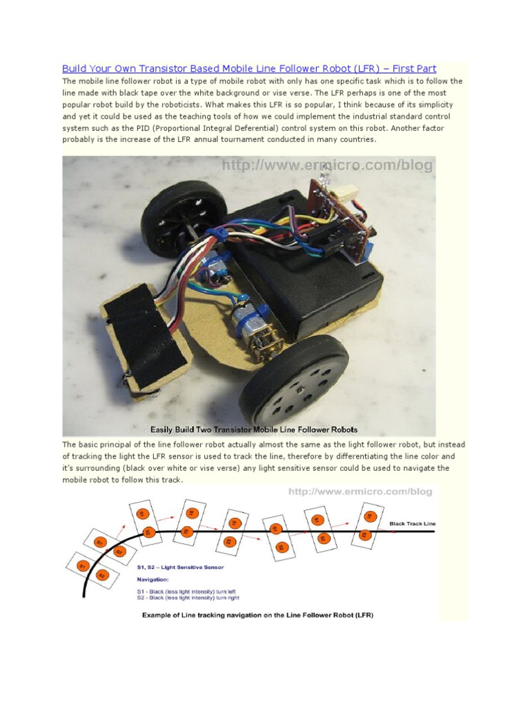 Build Your Own Transistor Based Mobile Line Follower Robot | Bipolar ...