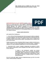 MODELO - HABEAS CORPUS PREVENTIVO - FAZER PROVA CONTRA SÍ MESMO
