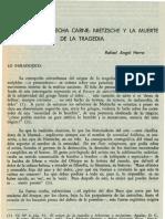 la disonancia hecha carne Nietzsche y la muerte de la tragedia.pdf