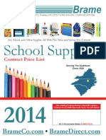 Brame's 2014-2015 School Supplies Contract Price List
