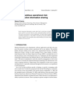 Journal of Operational Risk Management - Operational Risks of Not Sharing Data