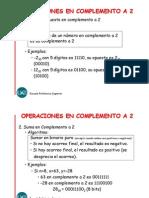 Operaciones Complemento a 2