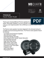 Mb Quart Premium p Vl Series Speaker Manual