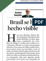 Xavier Batalla. Brasil Se Ha Hecho Visible