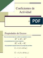Coeficientes de Actividad