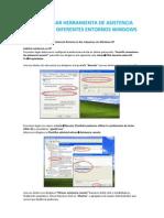 Configurar Asistencia Remota en Entornos Windows