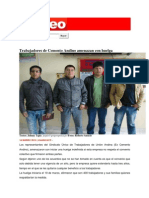 Trabajadores de Cemento Andino Amenazan Con Huelga