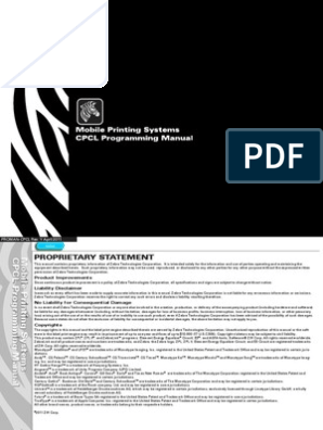 Zebra CPCL Programming Manual   Barcode   Universal Product Code