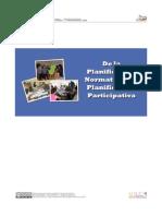 De La Planificacion Normativa a La Planificacion Participativa