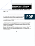 Senator Sean Nienow Called For An Investigation Into Failed E-Tab Revenue Estimates Provided By The Dayton Administration.