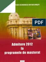 Subiecte Admitere Mastere ASE 2011