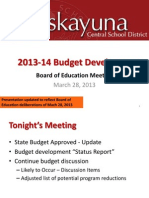 Niskayuna 2013-14 Budget Development