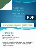Fizioterápia–fizikoterápia–gyógytorna–masszázs