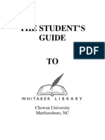 Student Guide to Whitaker Library