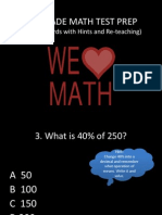 5th Grade Cst Math Prep Key Standards with hints and explanations