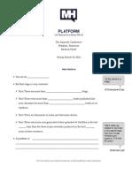 Platform Handout