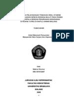 Hubungan Pelaksanaan Tindakan Oral Hygiene Dengan Kejadian Infeksi Rongga Mulut Pada Pasien Cedera Kepala Dengan Penurunan Kesadaran Di Ruang 13 RSU Dr.saiful Anwar Malang