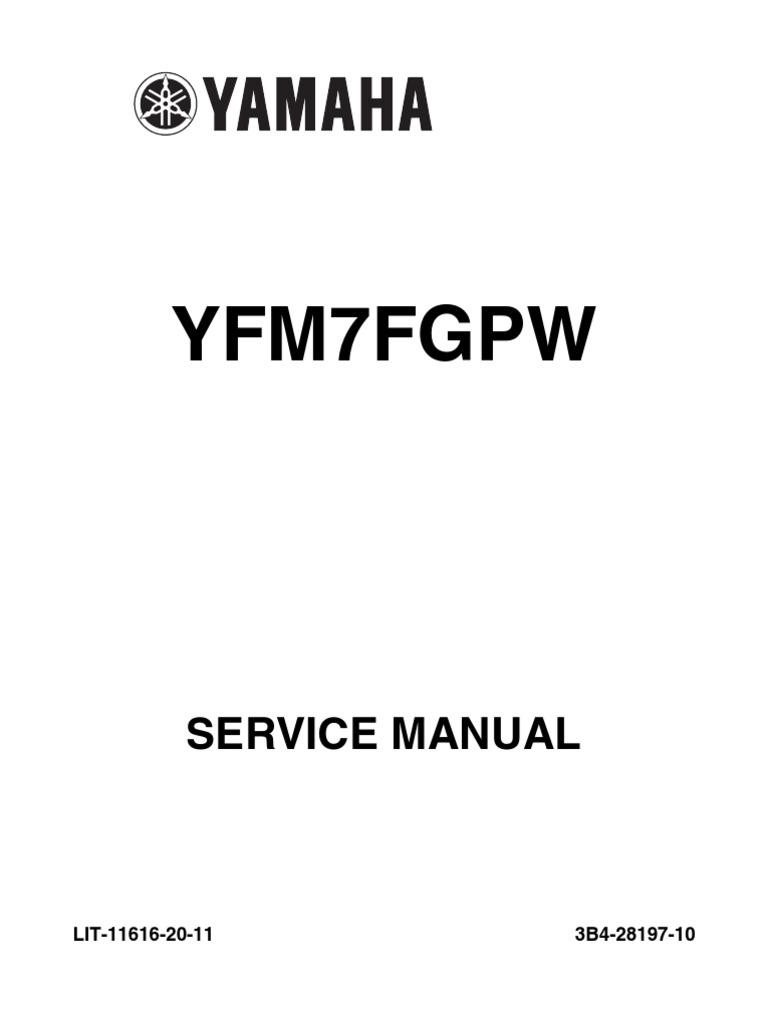 2008 yamaha grizzly 350 4wd atv repair service manual pdf