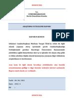 Sekizinci Cumhurbaşkanı Merhum Turgut ÖZAL Raporu