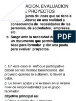 Formulacion Evaluacion de Proyectos.