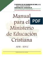 MANUAL Para El Departamento de Educacion Cristiana