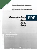 Exclusion Social y Desigualdad en El Peru