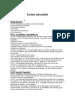 Estatuto Universitario y Autoridades.