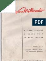 Manuale Uso E Manutenzione Fiat 1100 103 Tipo a 1955