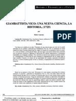 Giambatista Vico- La Nueva Ciencia