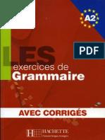 Les exercices de Grammaire Niveau A2 corrigés intégrés