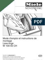 Miele W100-55 CH Manual FR