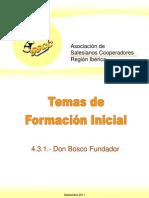 Formacion 4-3-01 Don Bosco Fundador