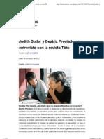 Entrevista-Dialogo PRECIADO y BUTLER