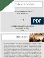 CANTO IX – LA ODISEA